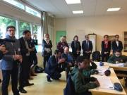Visite de l'école de la réussite à Asnieres avec Serge DASSAULT