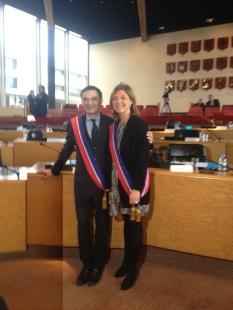 Au Conseil Départemental avec Patrick Devedjian nouvellement élu Président