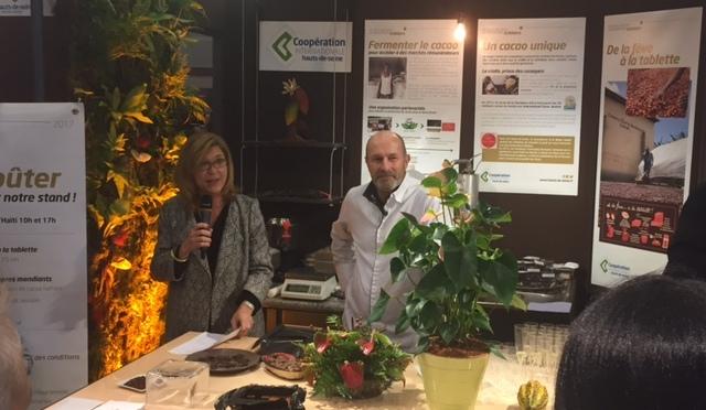 Inauguration du 23e Salon du Chocolat de Paris sur le stand du Conseil Départemental