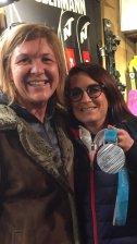 Marie Martinot, médaille d'argent aux jeux Olympiques en Halfpipe