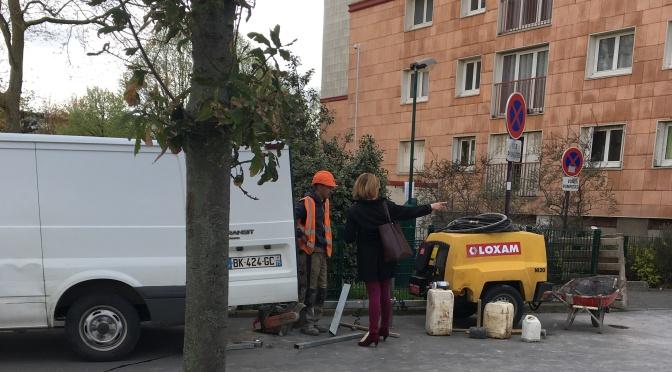 Vauban/av. de Paris : des travaux de stationnement en cours