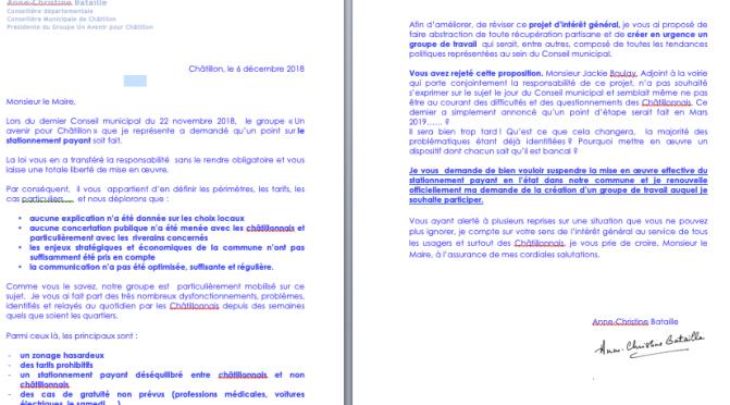 Courrier au Maire : Demande de Suspension du Stationnement Payant