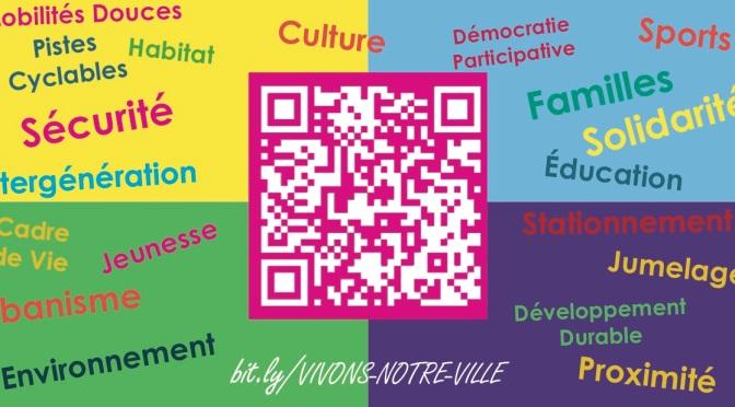 Participez à la consultation citoyenne VIVONS NOTRE VILLE en répondant à cette consultation