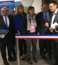 inauguration du pôle social départemental à Châtillon