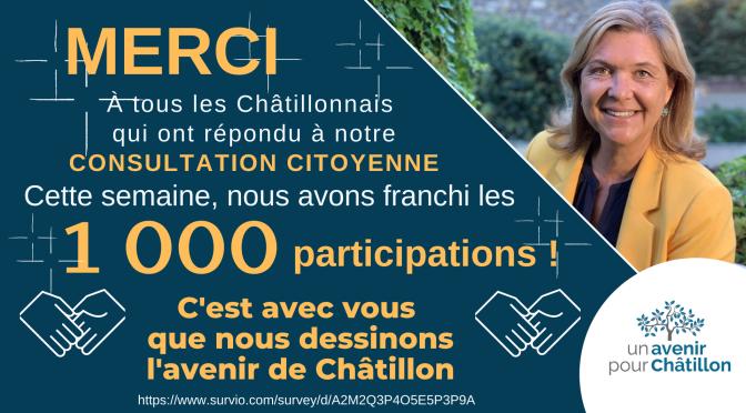 6 mois de consultation participative : un véritable succès pour l'avenir de Châtillon avec plus de 1000 participants