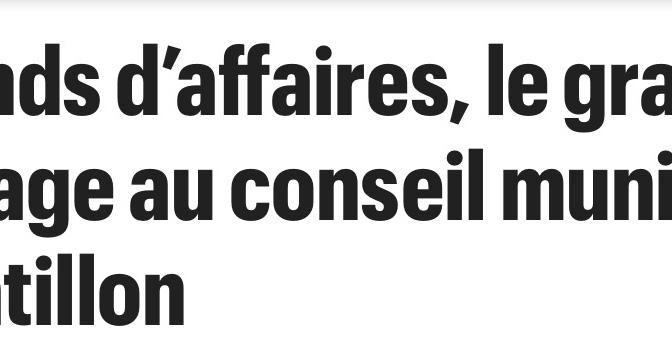 Le Parisien 19 avril 2019 : d'autres révélations explosives lors du conseil municipal